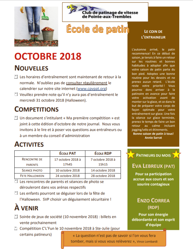 Journal octobre 2018_école