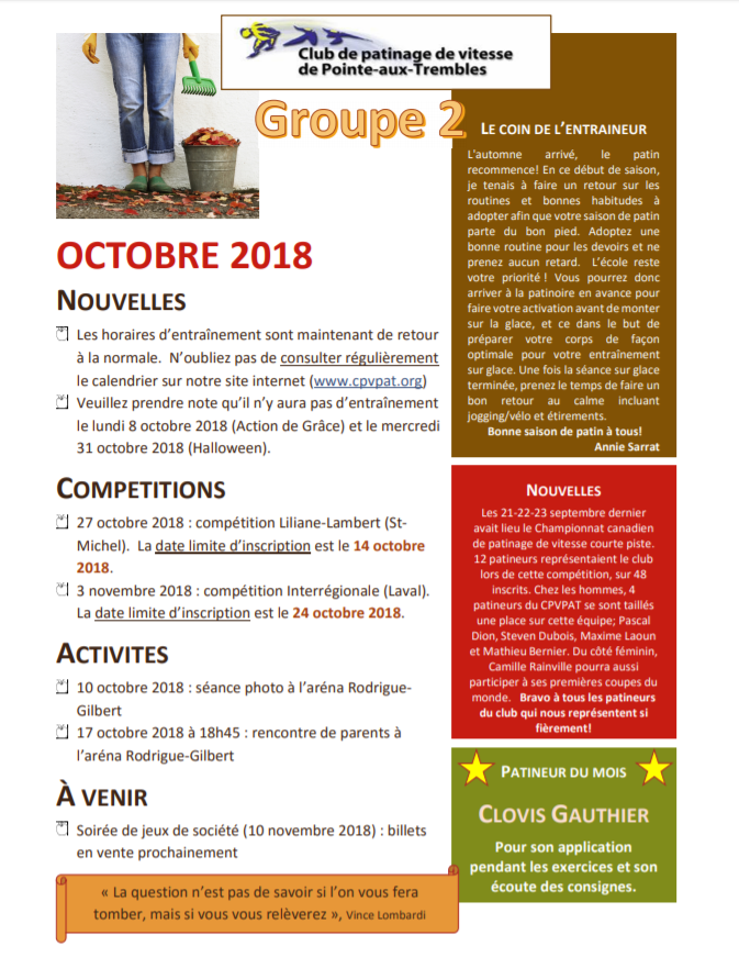 Journal octobre 2018_groupe 2